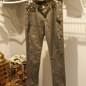 Rock and Republic Metallic Skinny Jean's sz 8m